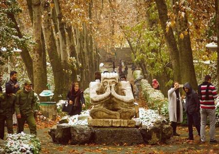 پارک جمشیدیه,آبشار سنگی پارک جمشیدیه,تصاویر زیبای پارک جمشیدیه